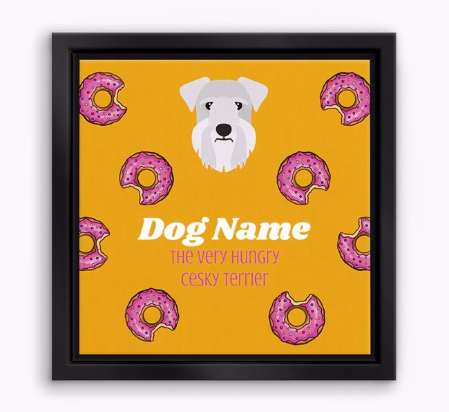 'Your Dog the hungry Cesky Terrier' Boxed Canvas Print