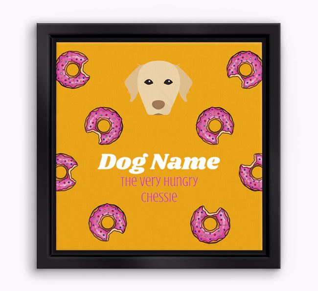 'Your Dog the hungry Chessie' Boxed Canvas Print