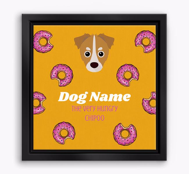 'Your Dog the hungry Chipoo' Boxed Canvas Print