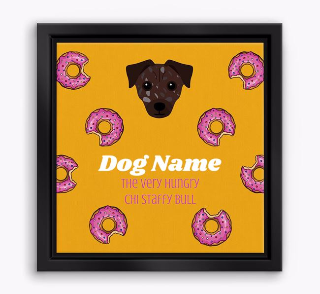 'Your Dog the hungry Chi Staffy Bull' Boxed Canvas Print