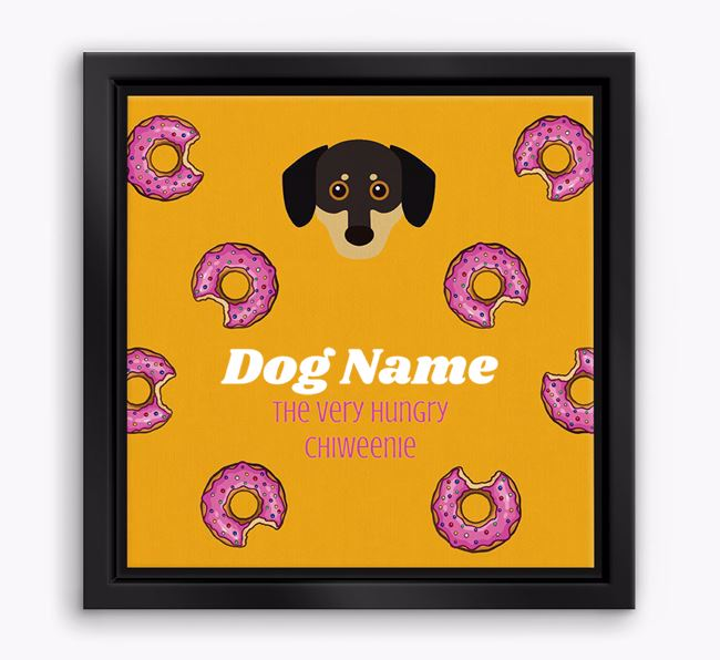 'Your Dog the hungry Chiweenie' Boxed Canvas Print