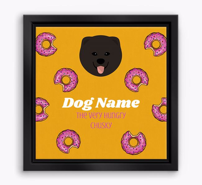 'Your Dog the hungry Chusky' Boxed Canvas Print