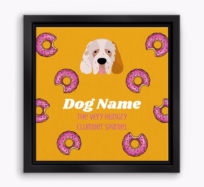 'Your Dog the hungry Clumber Spaniel' Boxed Canvas Print