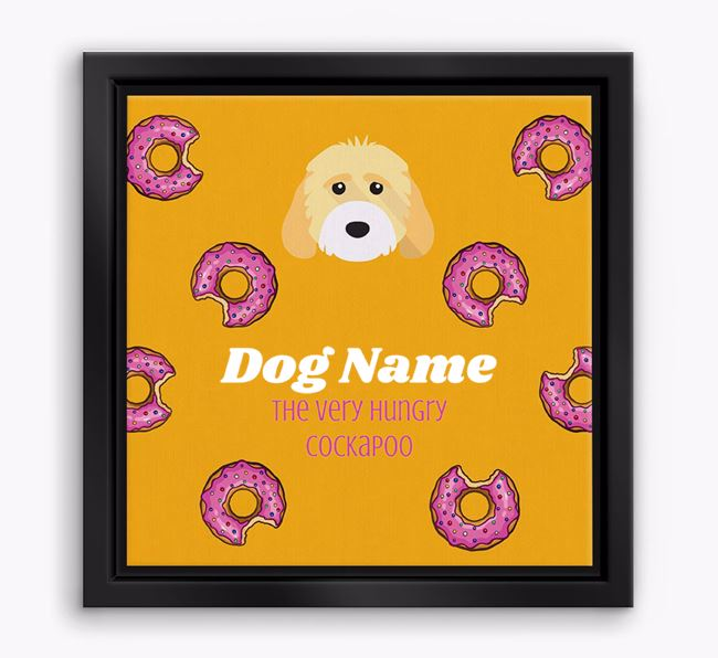 'Your Dog the hungry Cockapoo' Boxed Canvas Print