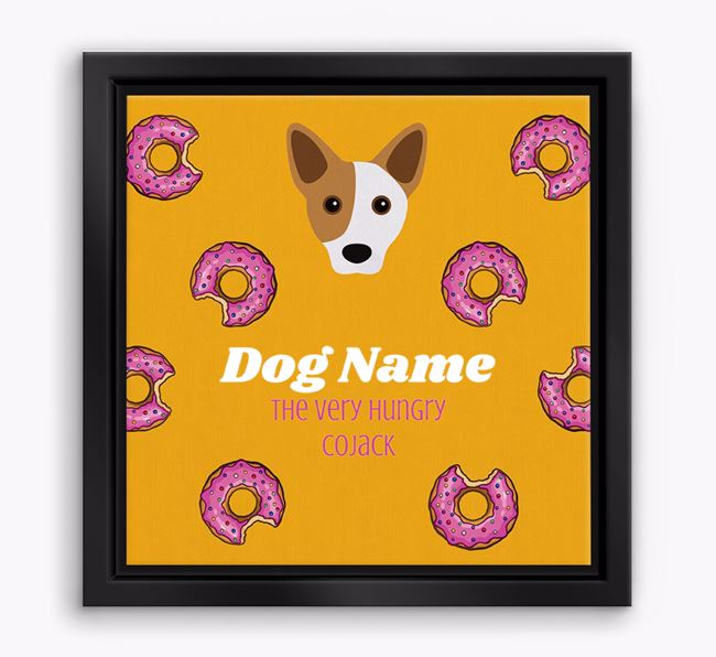'Your Dog the hungry Cojack' Boxed Canvas Print