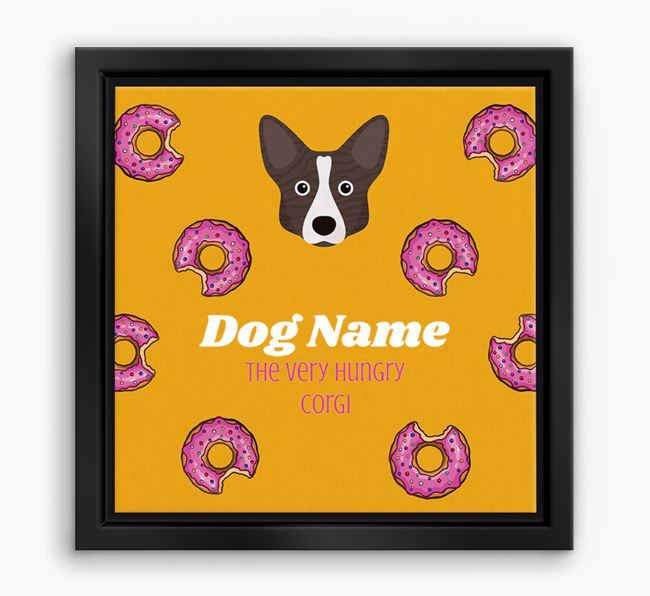 'Your Dog the hungry Corgi' Boxed Canvas Print