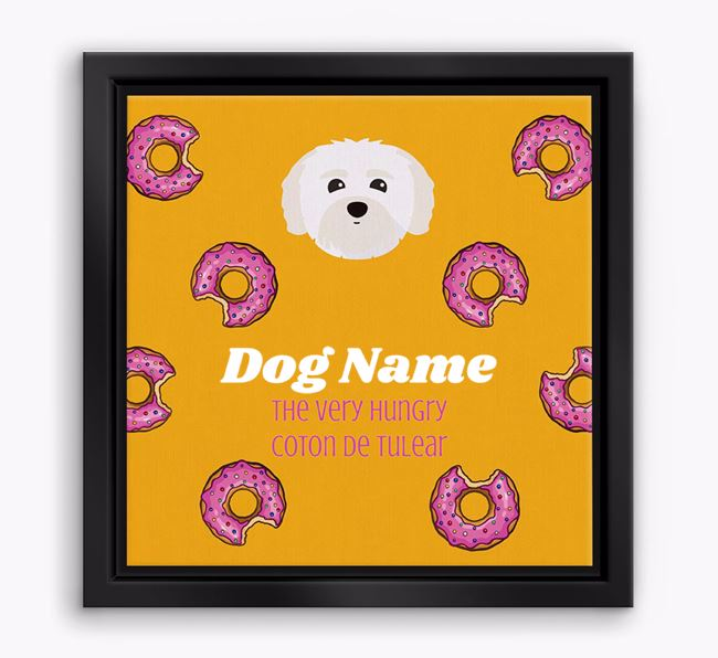 'Your Dog the hungry Coton De Tulear' Boxed Canvas Print