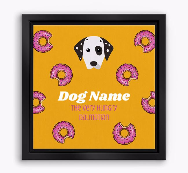 'Your Dog the hungry Dalmatian' Boxed Canvas Print