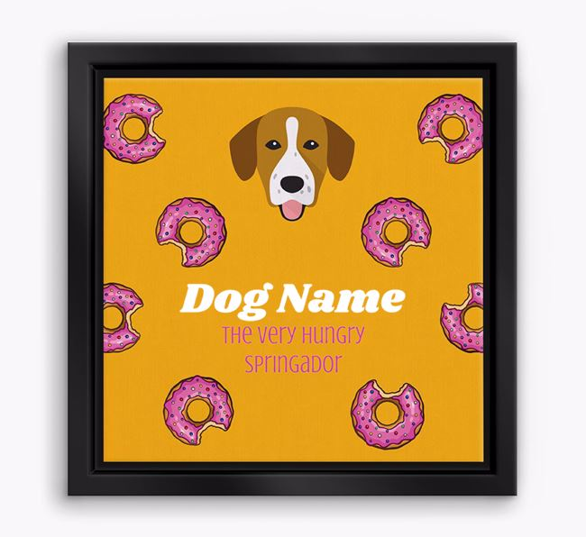 'Your Dog the hungry Springador' Boxed Canvas Print