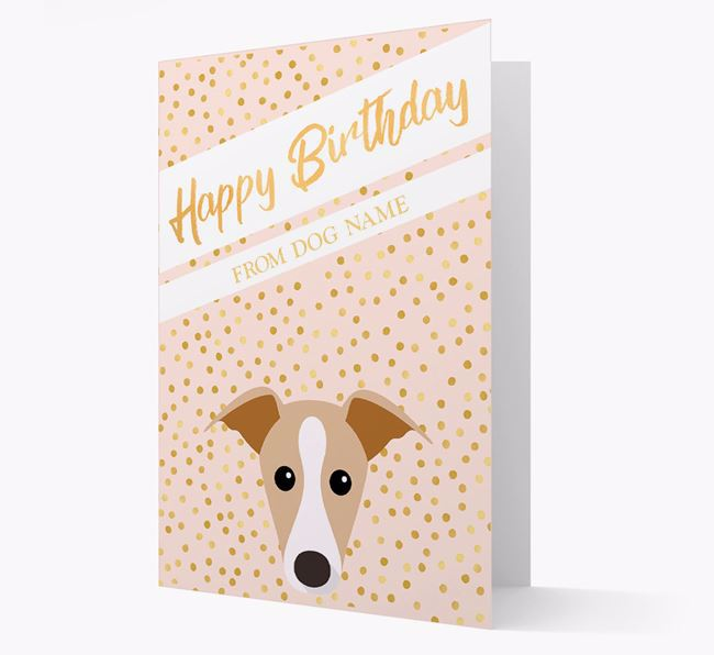Personalized 'Happy Birthday' Gold Detail Dog Card