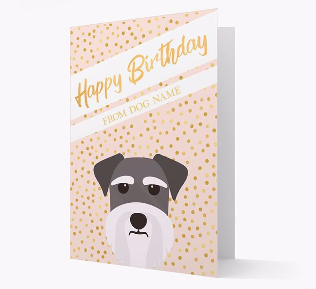 Personalised 'Happy Birthday' Gold Detail Dog Card