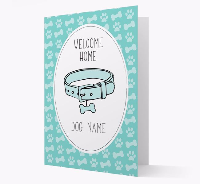 Personalised 'Welcome Home' Pug Card