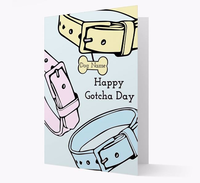 Personalised 'Happy Gotcha Day' Card for Your Dog