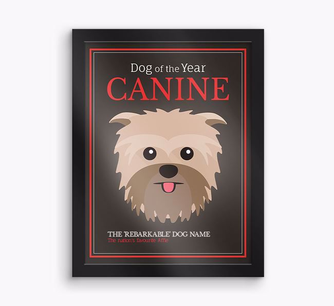 Personalised 'Dog of the Year' Framed Print