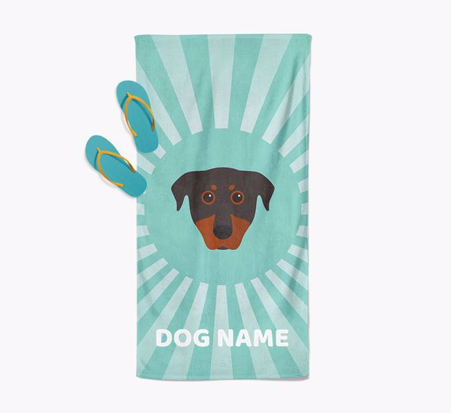 'Rays' - Personalized Beauceron Towel