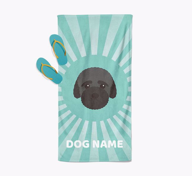 Personalised Pool Towel with Bich-poo Icon