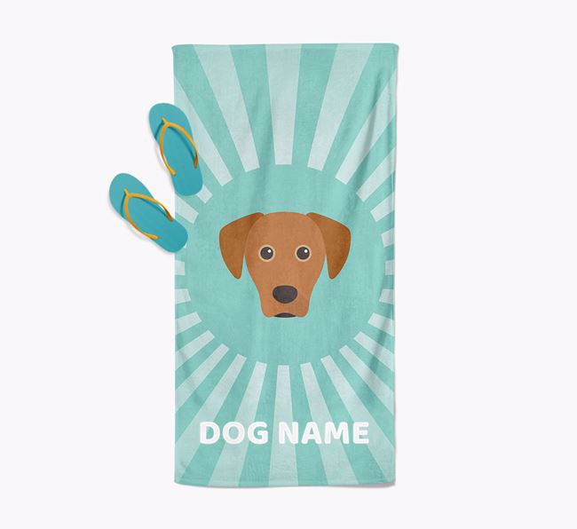 'Rays' - Personalized Blue Lacy Towel