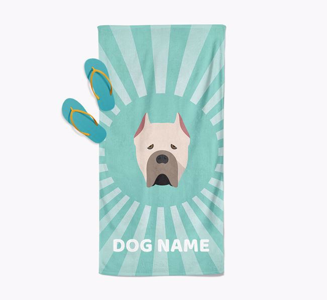 Personalised Pool Towel with Cane Corso Italiano Icon