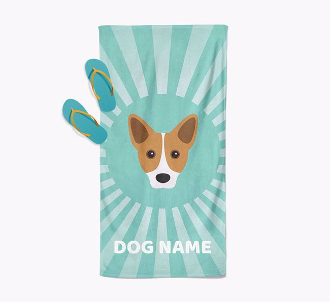 Personalised Pool Towel with Cojack Icon