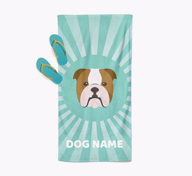 Personalised Pool Towel with Dog Icon