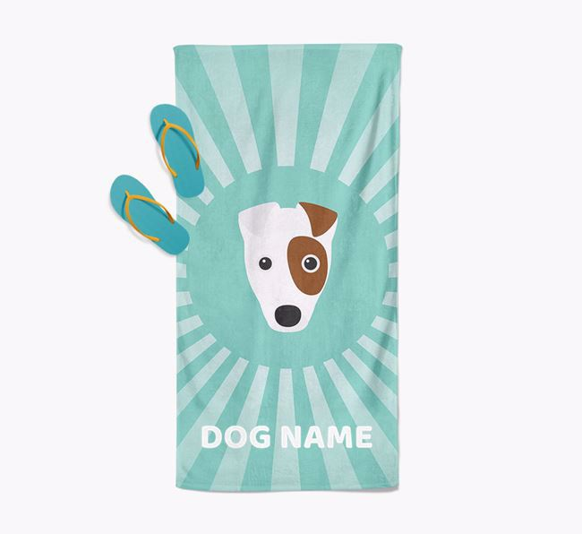 'Rays' - Personalized Fox Terrier Towel