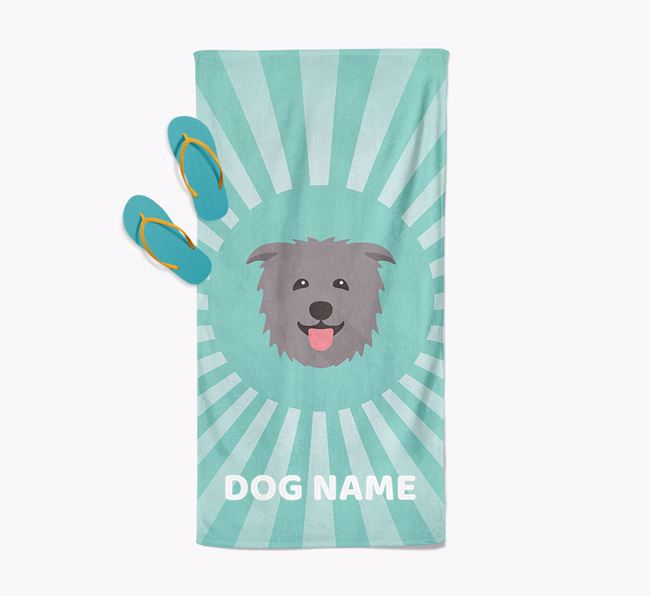 Personalised Pool Towel with Glen Of Imaal Terrier Icon
