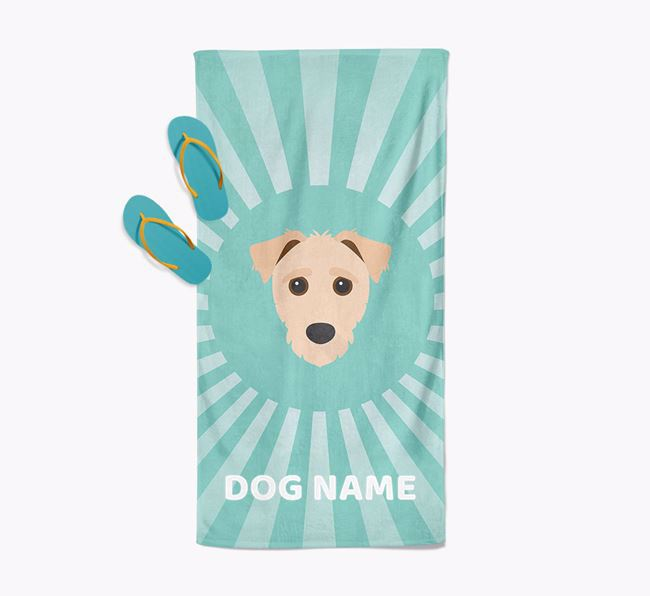 Personalised Pool Towel with Jack-A-Poo Icon