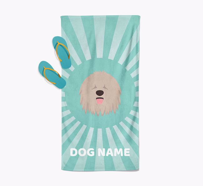 Personalised Pool Towel with Komondor Icon