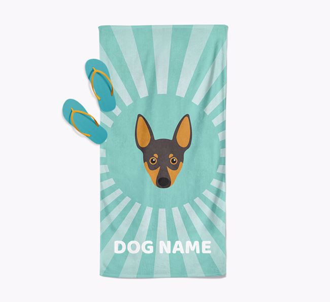 'Rays' - Personalized Miniature Pinscher Towel