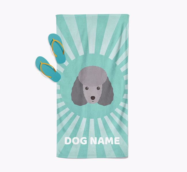 'Rays' - Personalized Miniature Poodle Towel