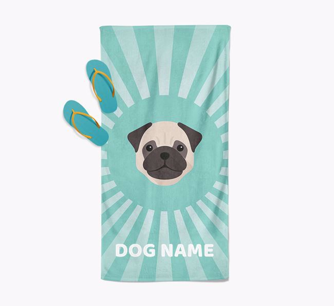 'Rays' - Personalized Pug Towel