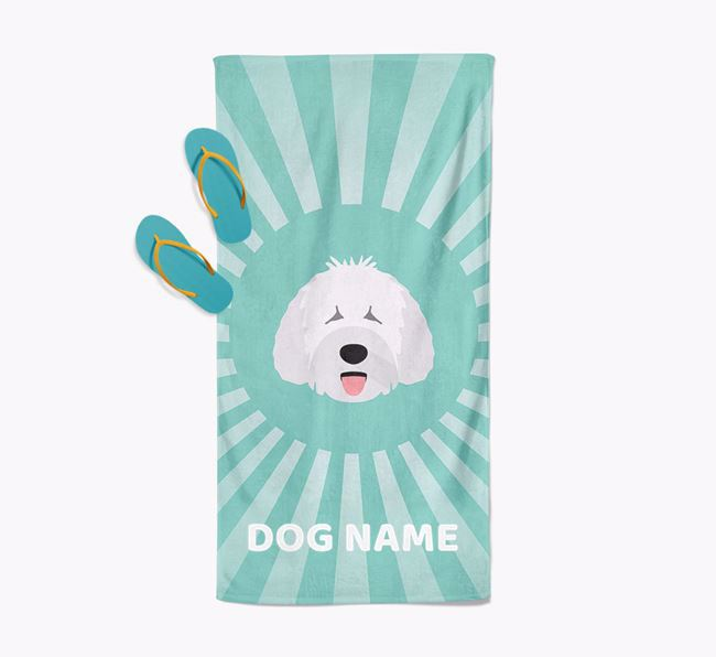 'Rays' - Personalized Spanish Water Dog Towel
