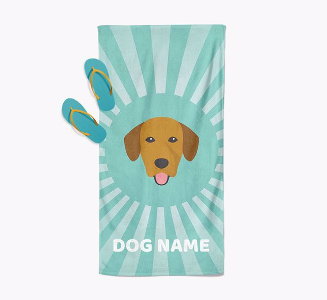 Personalised Pool Towel with Springador Icon