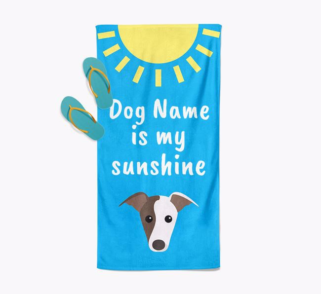 Personalised Pool Towel 'Your Dog is my Sunshine'