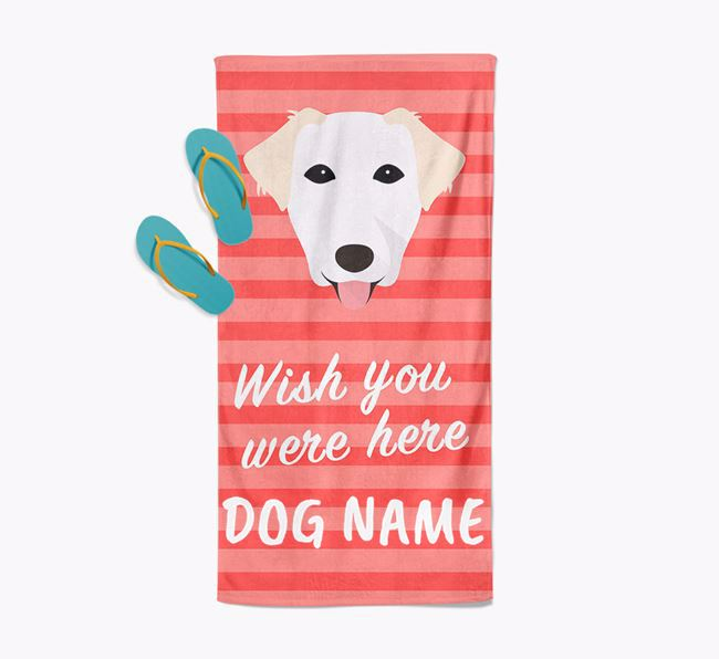 Personalised 'Wish you were here' with Borador Towel