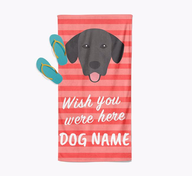 Personalised 'Wish you were here' with Springador Towel