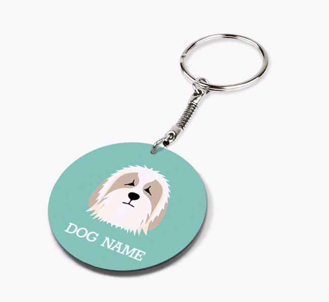 Personalised Bearded Collie Icon Keyring