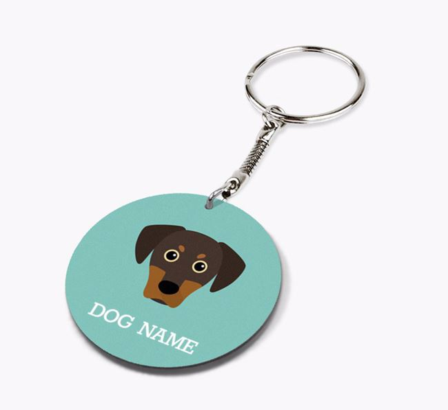 Personalised Blue Lacy Icon Keyring