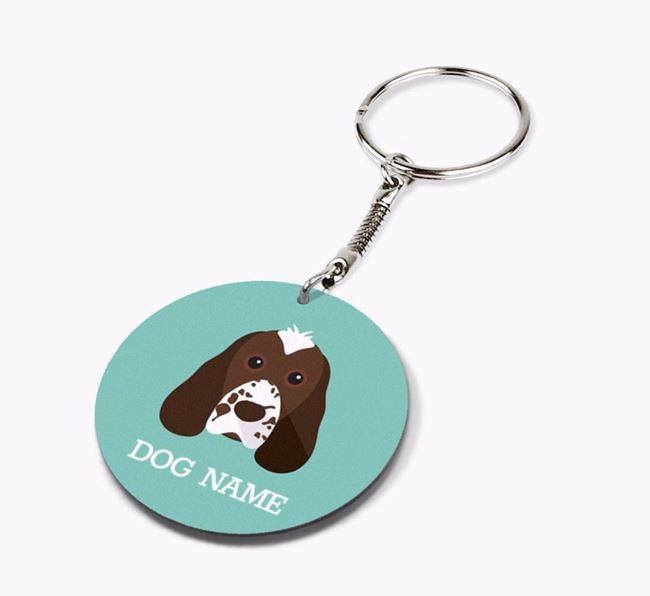 Personalised Cocker Spaniel Icon Keyring
