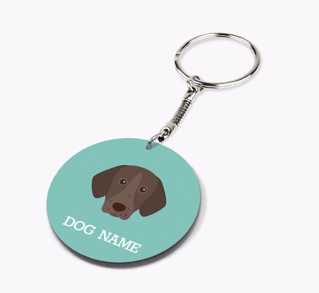 Personalised German Shorthaired Pointer Icon Keyring