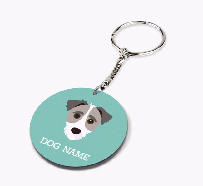 Personalised Jack-A-Poo Icon Keyring