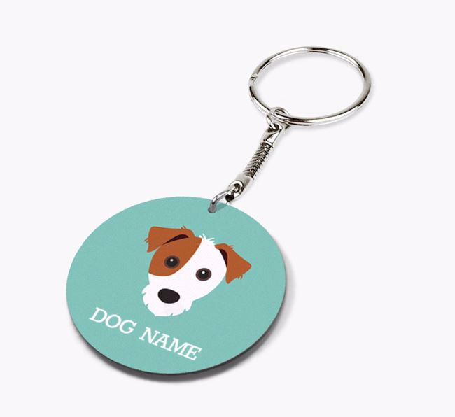 Personalised Jack Russell Terrier Icon Keyring