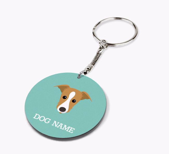 Personalised Lurcher Icon Keyring