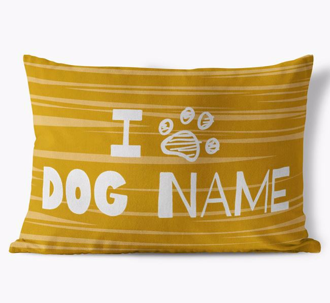 Personalised Rectangular 'I Paw Your Dog' Cushion