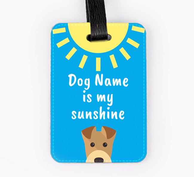Personalised 'Your Dog is my sunshine' Luggage Tag