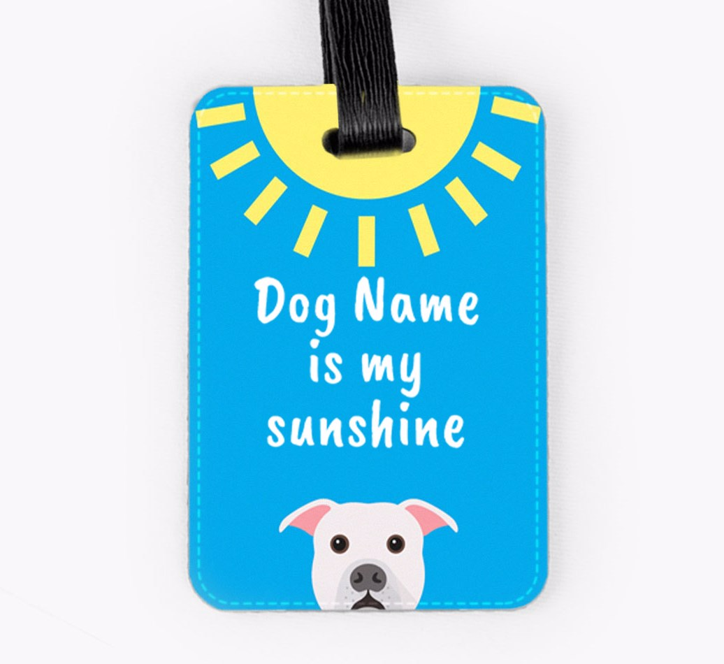 American Bulldog Luggage Tag Front