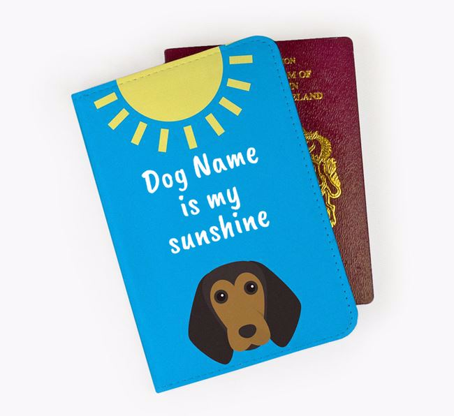 Personalised Passport Cover 'Your Dog is my sunshine' with Beagle Icon