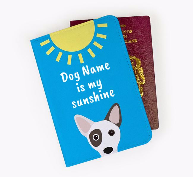 Personalised Passport Cover 'Your Dog is my sunshine' with Cojack Icon