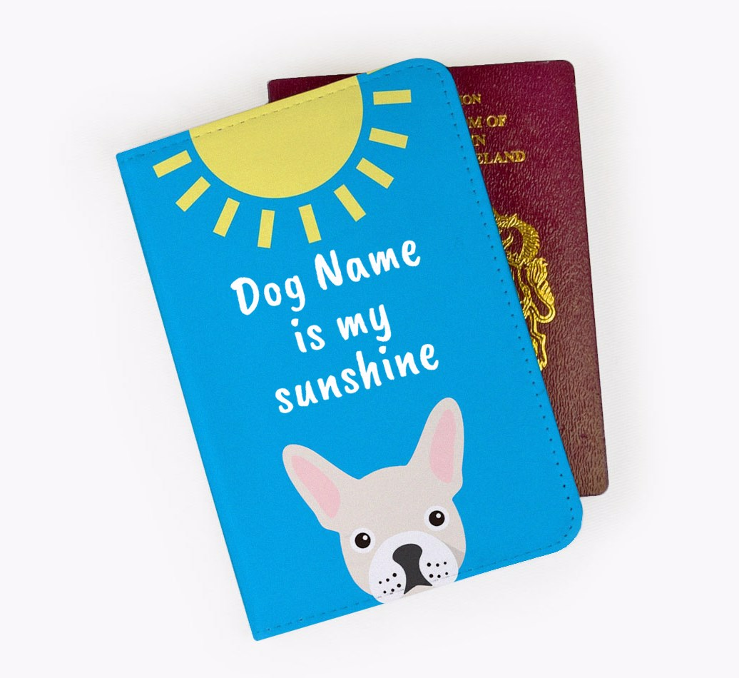 French Bulldog Passport Cover Front