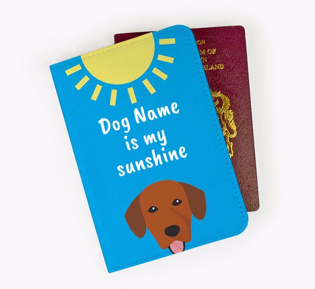 Personalised Passport Cover 'Your Dog is my sunshine' with Springador Icon